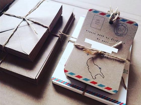 Hand drawn bespoke wedding stationary fo