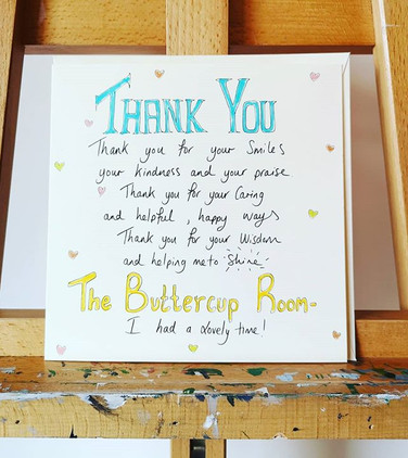 A personalised greeting card to a well l