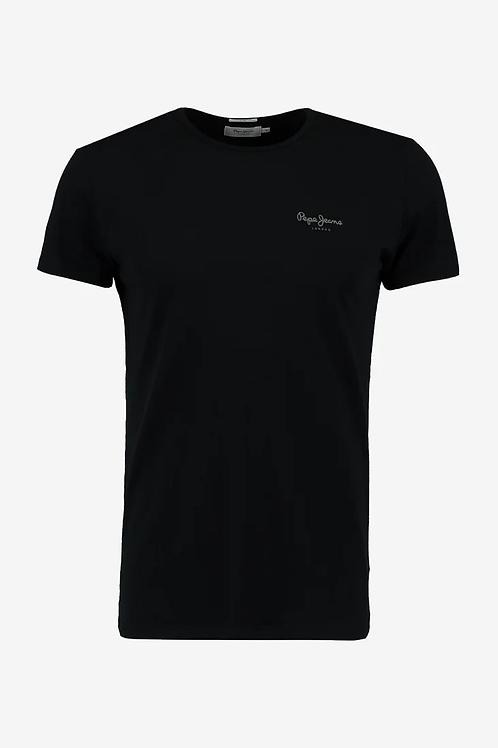 Tee shirt pepe jeans logo mini noir