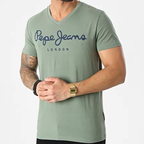 Tee shirt pepe jeans simple logo vert