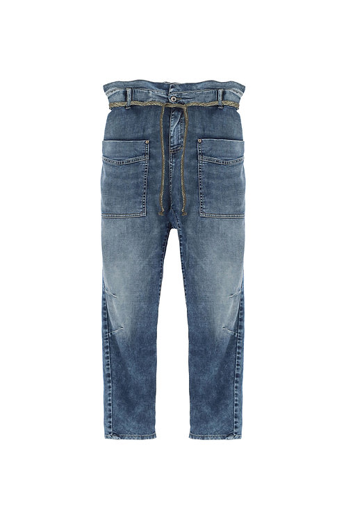 PLEASE JEANS TAILLE HAURE LARGE TAPERED CODE:P0K9BQ2W3L
