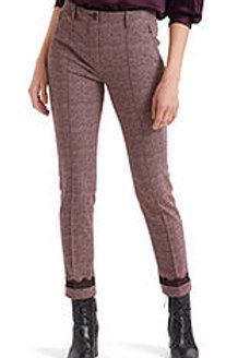 MARC CAIN Pantalon jacquard orné de dentelle PC 81.52 J49 col. 214 Couleur: rose
