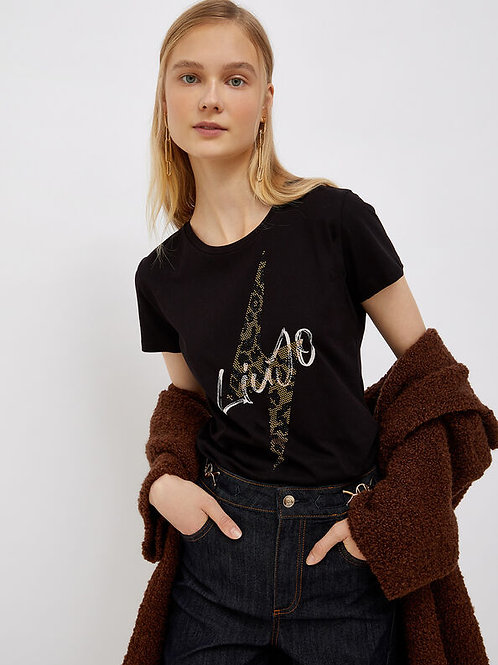 LIUJO T-shirt Avec Logo Noir