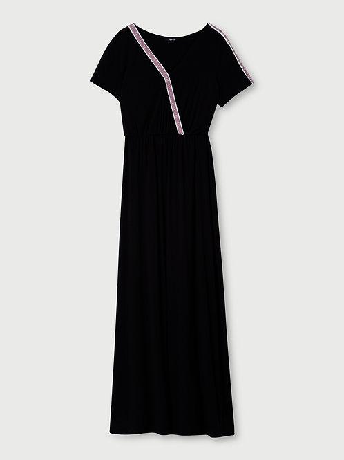 Robe longue avec logo LIUJO  TA1213J699822222