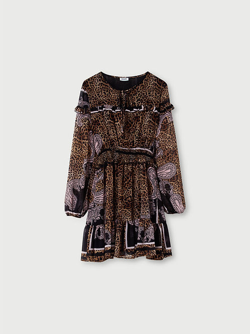 Robe courte avec imprimé LIUJO  WA1009T4842T9679