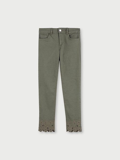 Pantalon cropped avec broderie LIUJO  WA1096T4033T9559