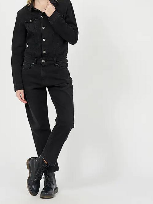 Combinaison en jean noir Y157BQ2E02