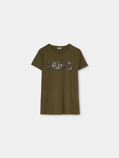 LIUJO T-shirt Avec Logo Kaki