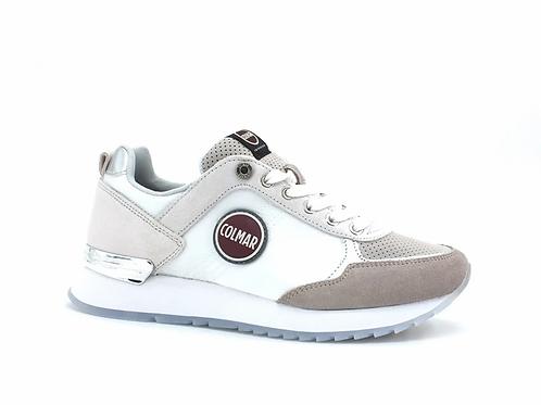 COLMAR Travis Prime Sneaker Running Bicolor White Cold Gray TRAVISPRIME080