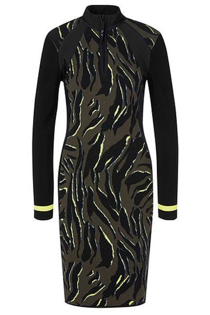 MARC CAIN Robe jacquard tricotée en Allemagne PS 21.33 M33 col. 598