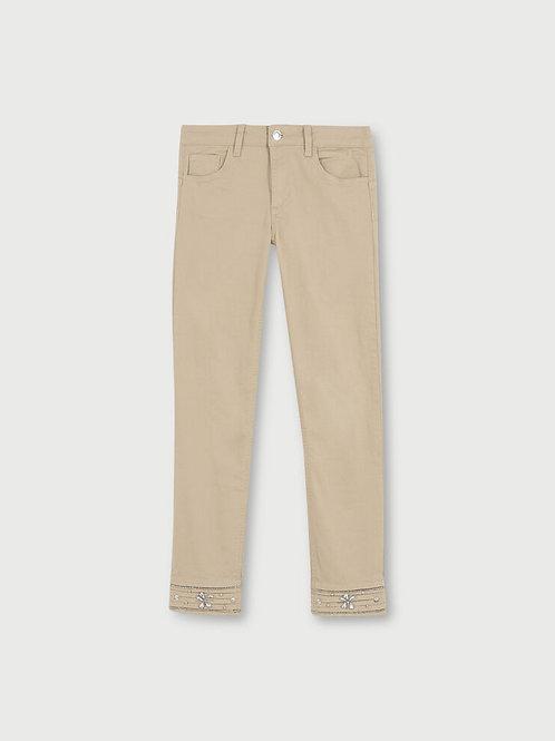 Pantalon cropped avec broderie LIUJO  WA1096T4033T9560
