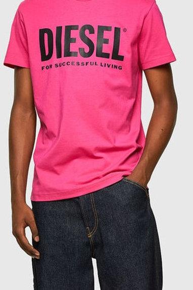 Copie de DIESEL T-shirt Logo Rose