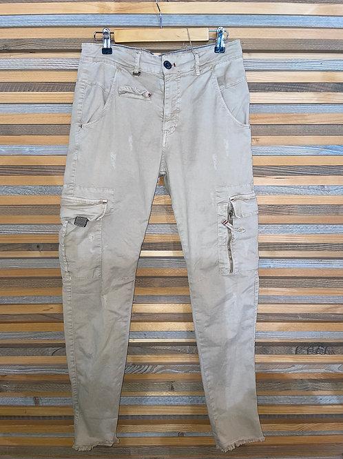 Jean à poches beige P640312401