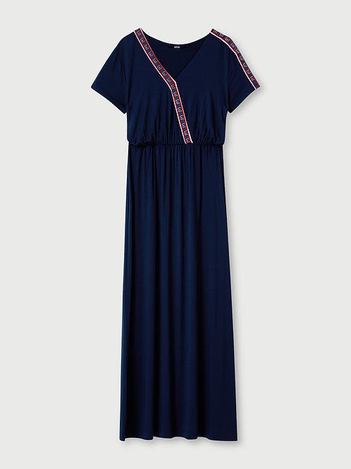 Robe longue avec logo LIUJO   TA1213J699894024