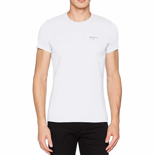Tee shirt pepe jeans logo mini blanc