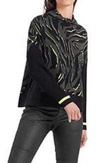 MARC CAIN Pull-over jacquard tricoté en Allemagne PS 41.42 M33 col. 598