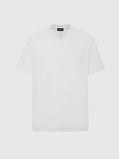 DIESEL T-CHERUBIK-NEW2 T-shirt à col en V avec base double épaisseur