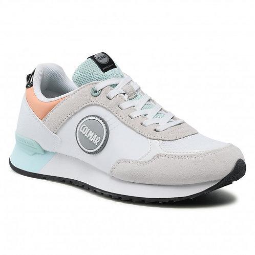 Chaussures colmar Travis Mellowwhite-blue-peach