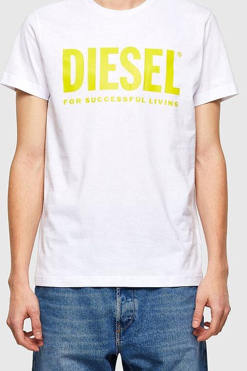 DIESEL T-shirt Logo Blanc