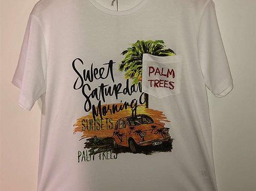 T6410114IM Teeshirt palm trees