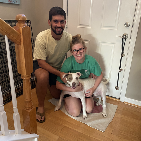 Flynn and his new parents!