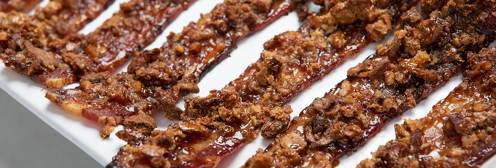 Candied Bacon with Pecan Crisp Crumble (12 slices)
