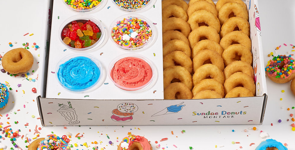 Sundae Donuts Rainbow DIY Decorating Kit (25 Donuts)