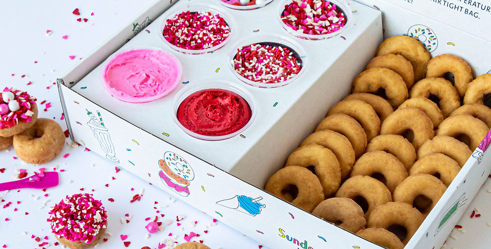 PREORDER: Valentine's DIY Decorating Kit (24 Donuts)
