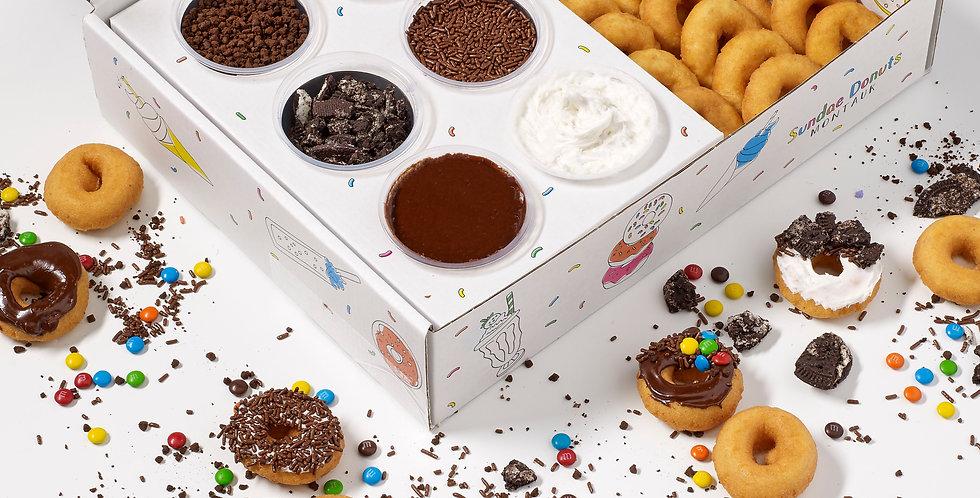 Sundae Donuts Chocolate DIY Decorating Kit (24 Donuts)