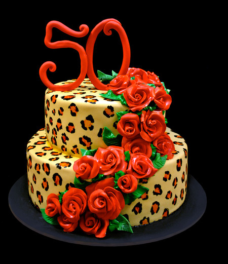 50th Birthday Leopard and Roses.jpg