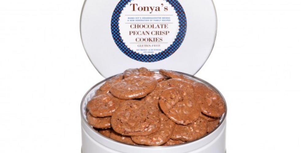 Chocolate Pecan Crisp Cookie Tin
