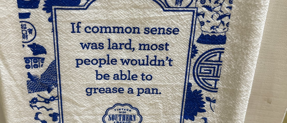 Southern Advice Collective Blue Tea Towel