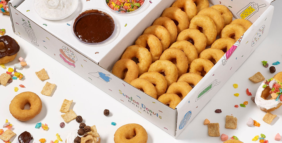 Sundae Donuts for Breakfast DIY Decorating Kit (24 Donuts)