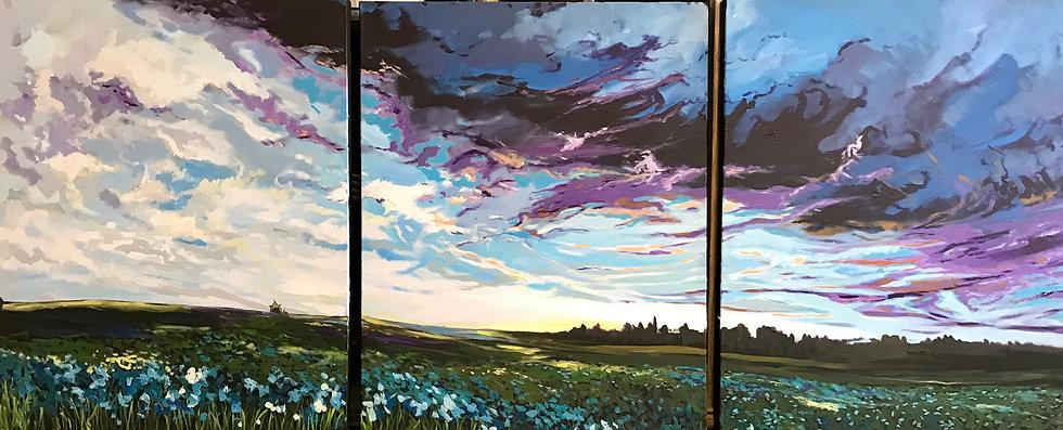 Field of Flax 72x30