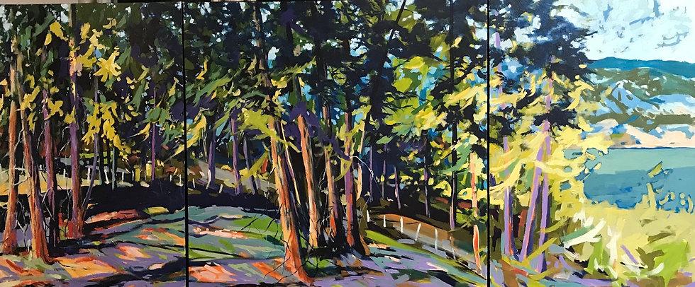 Crooked Tree Triptych 108x36
