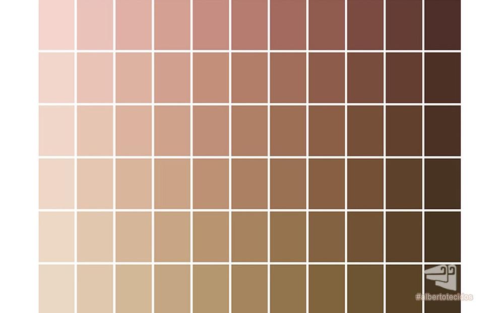 Paleta de tons de nude (pele)