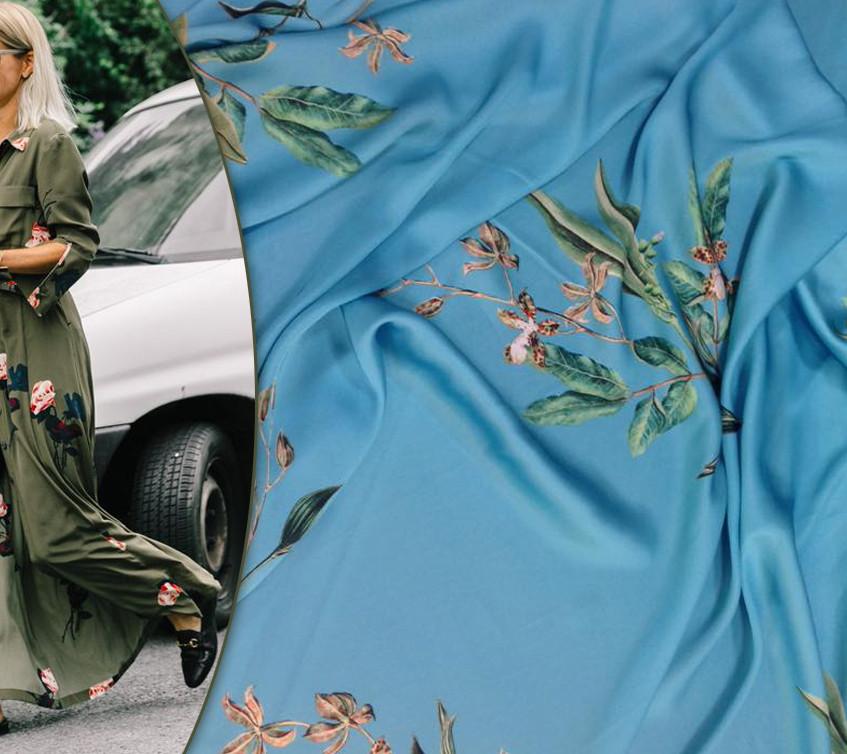 E os tecidos sintéticos que estão substituindo as sedas na moda, lindas estampas florais Fotos: Pinterest + Alberto Tecidos