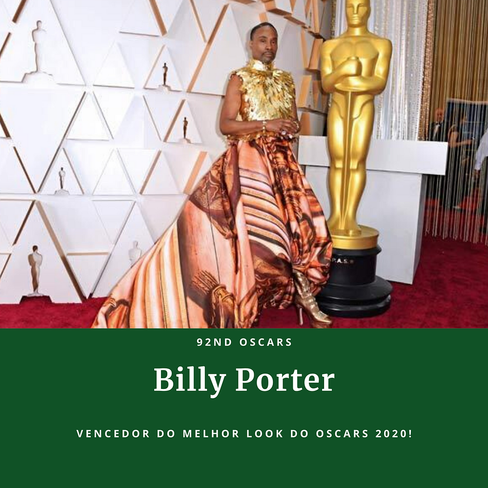 ganhador do Grammy Billy Porter usa corpete de ouro no Oscars 2020