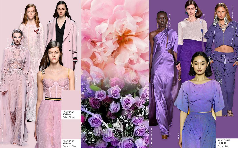 Violeta e tons rosados