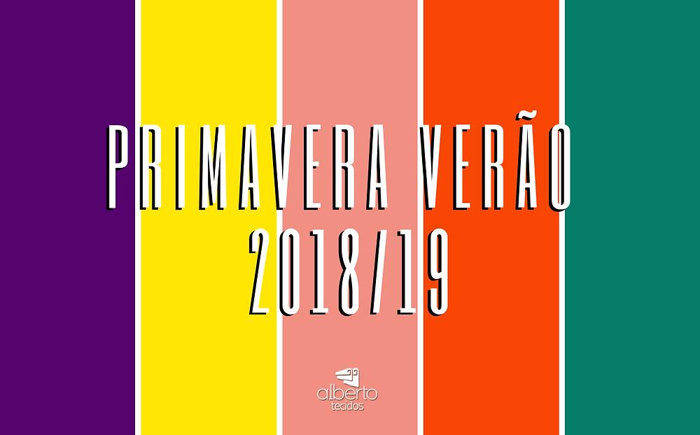 tendência de cores primavera verão 2018 2019