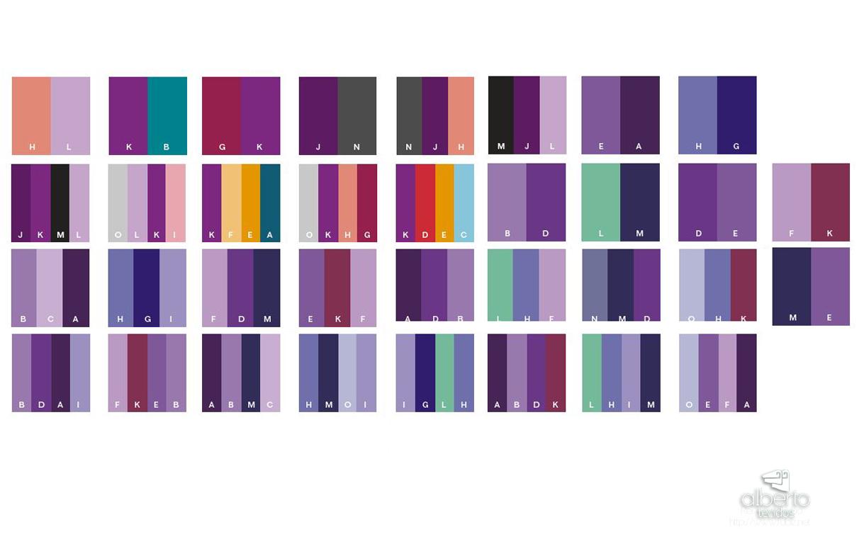 Paleta de combinação para roxo