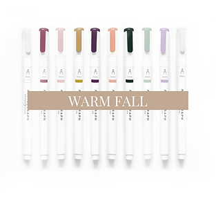 Acrylograph Pack - Warm Fall 0.7mm - Pen Pack