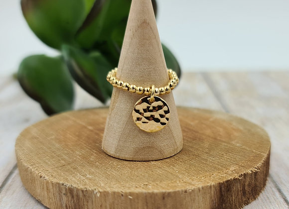 Bague gold filled 1 rang - pendentif au choix