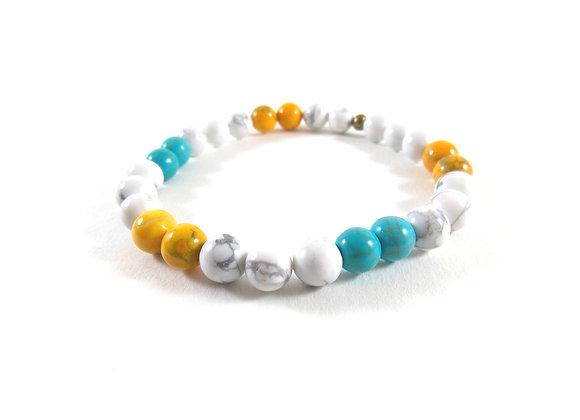For men only ! Bracelet Howlites et Turquoise