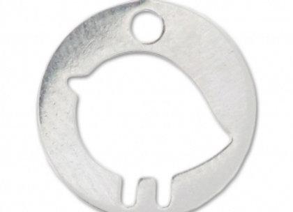 Bracelet cordon  - Pendentif oiseau argent 925