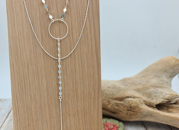 """Collection  """"Mademoisellesvp"""" - collier double rang argent 925"""