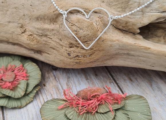 Collier argent 925 - pendentif cœur facettée