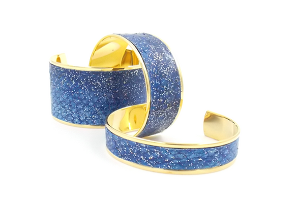 Saumon Bleu Galaxie pailleté (3 tailles)