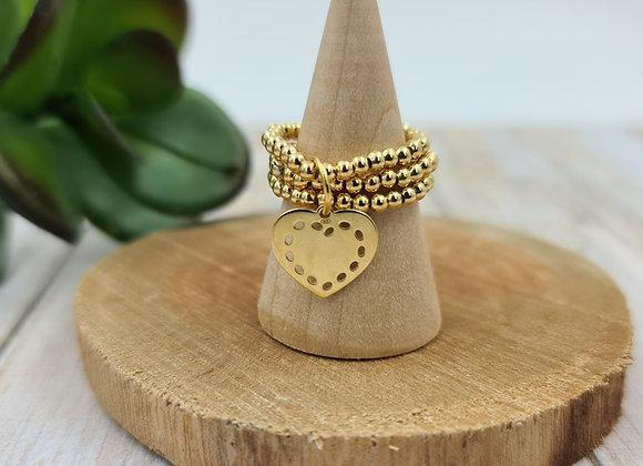 Bague gold filled 3 rangs - pendentif au choix