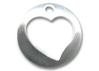 Bracelet cordon  - Pendentif coeur argent 925